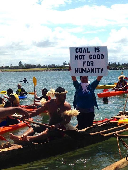 As global Reclaim Power week comes to an end, Pacific Climate Warriors have blockaded  Australia's largest coal port on the other side of the world. If it were a country, the coal  exported from this port would make it the 9th highest emitting country in the world.